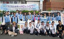 누가선교회, 서울역 광장서 '사랑의 의료봉사'
